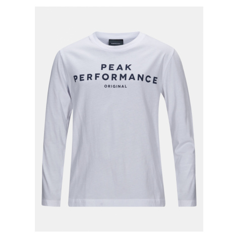 Tričko Peak Performance Jr Orig Ls T-Shirt - Bílá