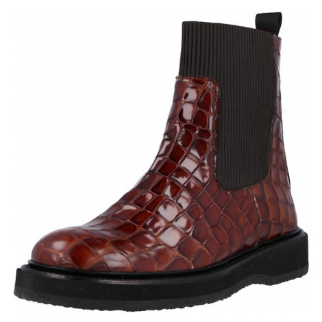 ANGULUS Chelsea boty černá / kaštanově hnědá