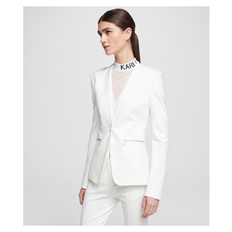 Sako Karl Lagerfeld Punto Jacket W/ Logo Tape - Bílá