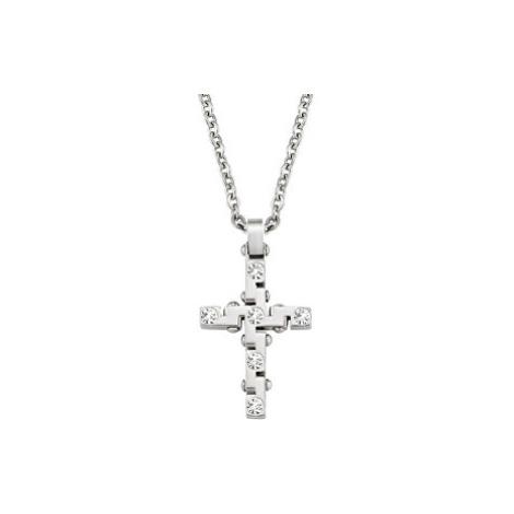 Morellato Pánský náhrdelník s křížem Motown SAEV03 (řetízek, přívěsek)