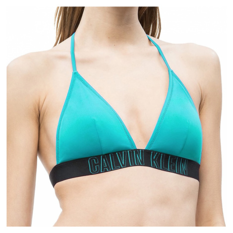 Calvin Klein dámské plavky VD zelené - Zelená