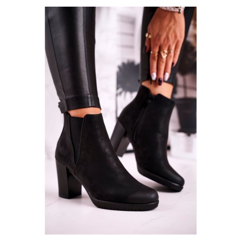 Women's Ankle Boots Sergio Leone Suede Black BT311 Kesi