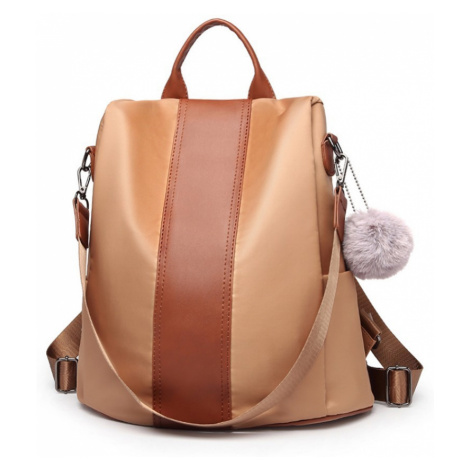 Hnědý stylový moderní dámský batoh/kabelka Ahana Lulu Bags