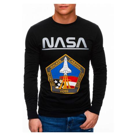 Inny Černá mikina bez kapuce NASA B1272