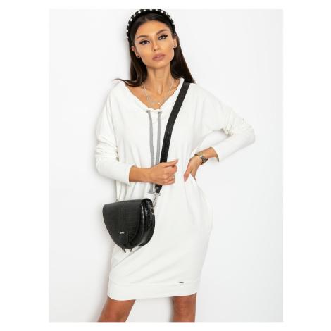 Ecru sweatshirt dress Fashionhunters