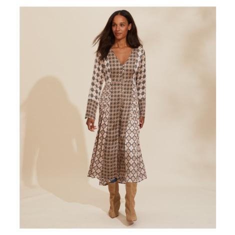 Šaty Odd Molly Georgine Dress - Hnědá