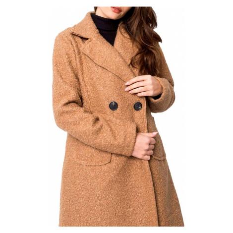 Béžový lehký teddy kabátek BASIC