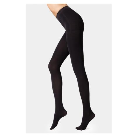 Stahovací punčochové kalhoty Velour 100 DEN černá Conte of Florence