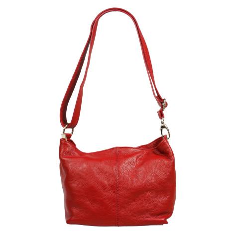 Levné kožené kabelky přes rameno Batilda Rosso