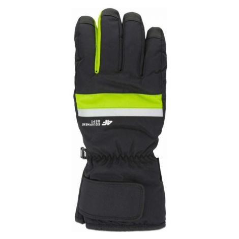 Pánské lyžařské rukavice H4Z20-REM006-41N GREEN NEON 4F