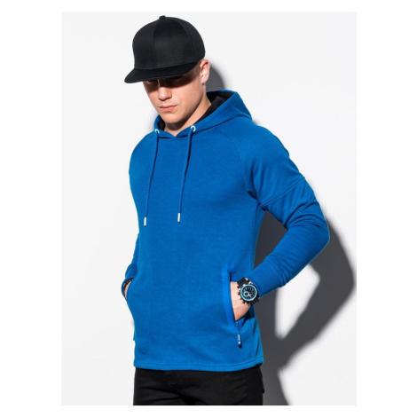 Ombre Clothing Jednoduchá mikina v modré barvě B1080