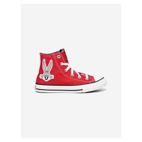 Bugs Bunny Chuck Taylor All Star Hi Tenisky dětské Converse Červená
