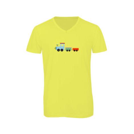Pánské triko s výstřihem do V Kids train