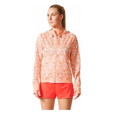 Dámská běžecká bunda adidas Run Graphic Jacket Oranžová