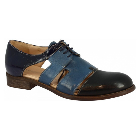 Leonardo Shoes 5004MARC ROK/NAPLAK BLU Modrá