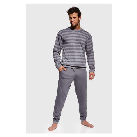 Šedé pruhované pyžamo Loose Cornette