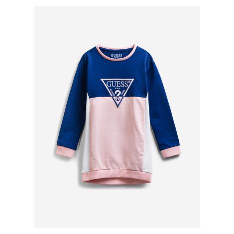 Šaty dětské Guess Modrá