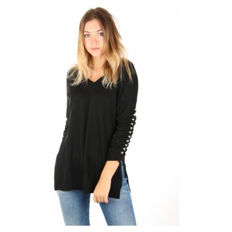 Guess dámský tenký černý svetr s 3/4 rukávem