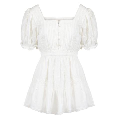 Šaty LoveShackFancy TOMASINA bílá
