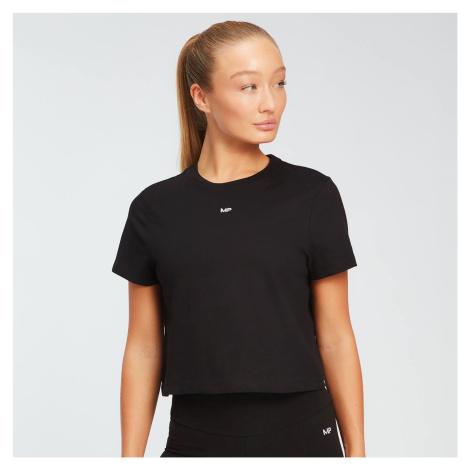 MP dámské zkrácené tričko s krátkým rukávem Essentials – Černé