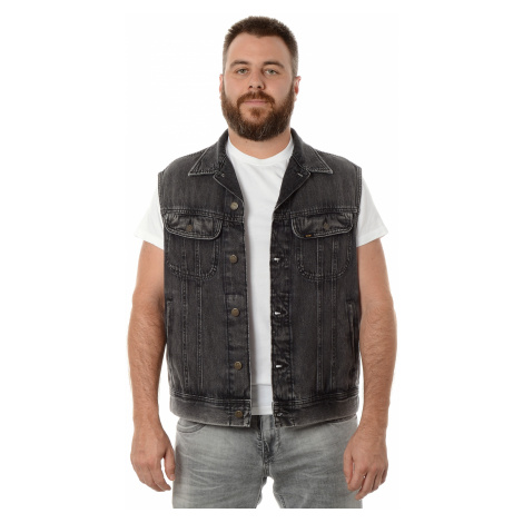 Džínová vesta Lee Cutt Off Rider pánská tmavě šedá