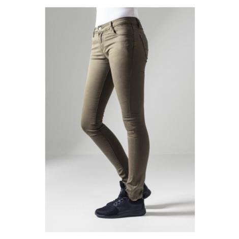 Urban Classics Ladies Skinny Pants olive
