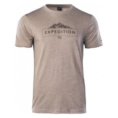Hi-Tec RENON hnědá - Pánské tričko