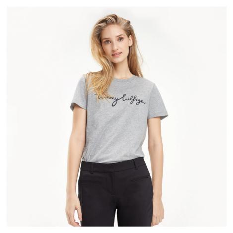 Tommy Hilfiger dámské šedé tričko Graphic