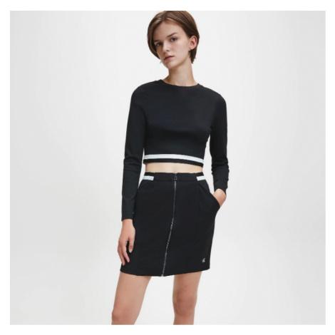 Calvin Klein Calvin Klein dámské černé tričko s dlouhým rukávem MONOCHROME MILANO TOP