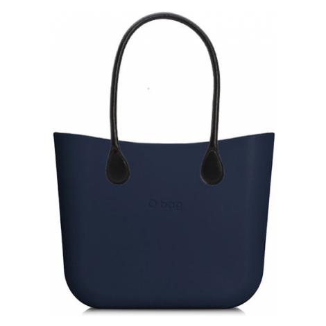 Kabelka obag mini navy s držadlem koženka černá O bag