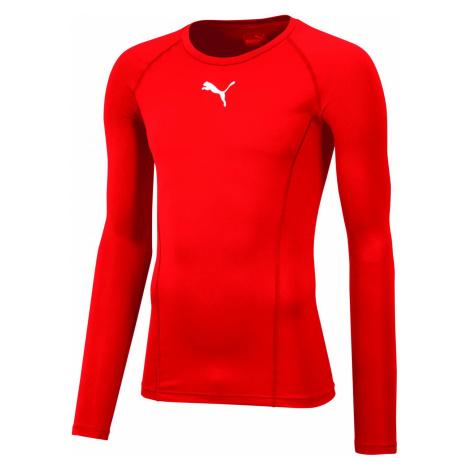 Kompresní triko Puma LIGA Baselayer Tee Červená / Bílá