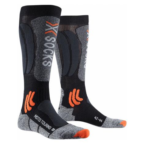 Ponožky X-Socks MOTOTOURING LONG 4.0 šedá|černá