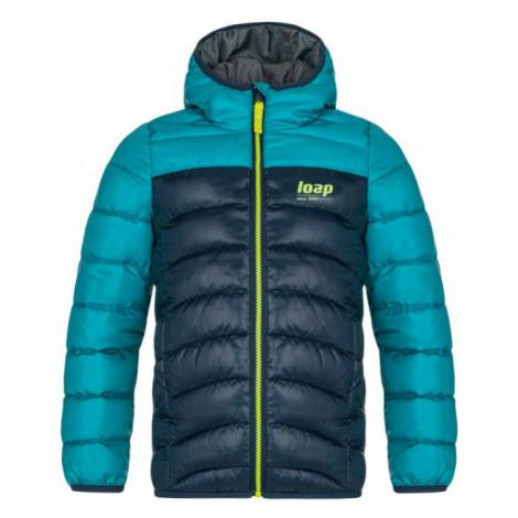 LOAP INBELO Dětská zimní bunda CLK2050M39N Mykonos Blue / Green