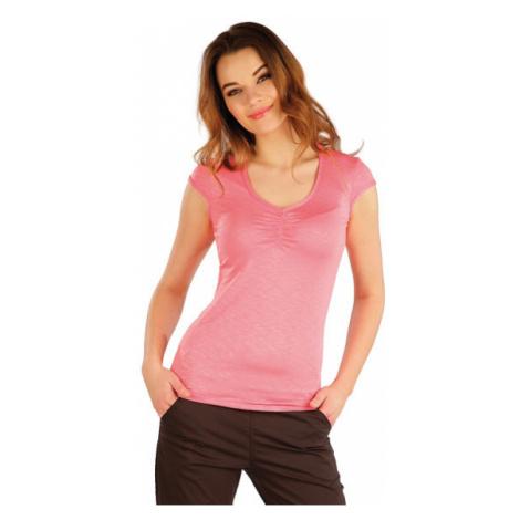 Dámské tričko s krátkým rukávem Litex 5A021 | růžová