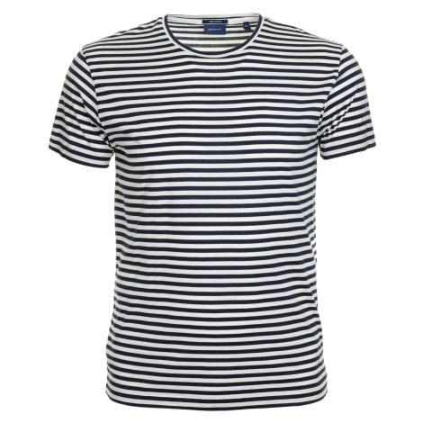 Pánské tmavě modré tričko Gant s proužky