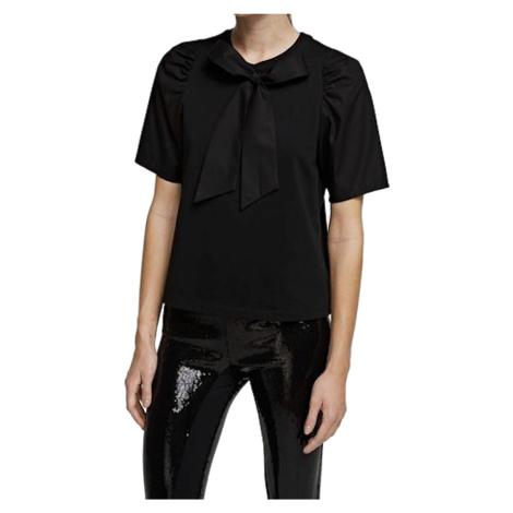 Černé tričko s vázačkou - KARL LAGERFELD