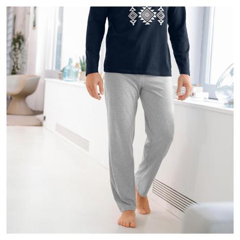 Blancheporte Pyžamové kalhoty, šedý melír šedý melír