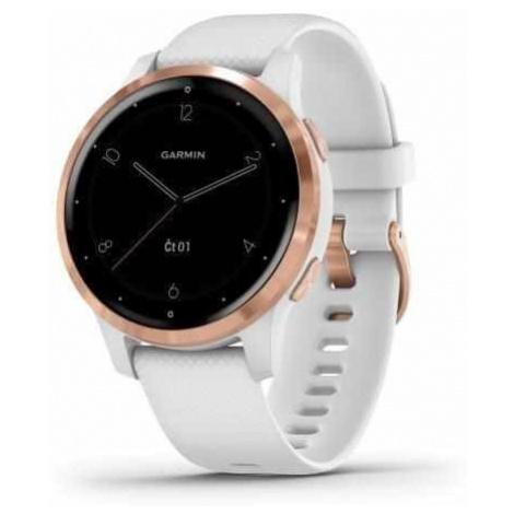 Sportovní smart GPS hodinky Garmin vívoactive 4S White/Rose Gold