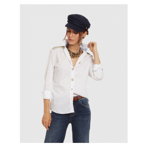 Košile La Martina Woman Shirt Long Sleeves Light - Bílá