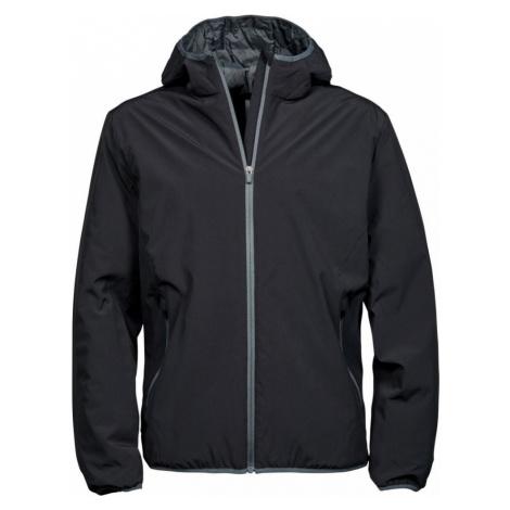 Pánská dvouvrstvá funkční bunda s kapucí Competition šedá