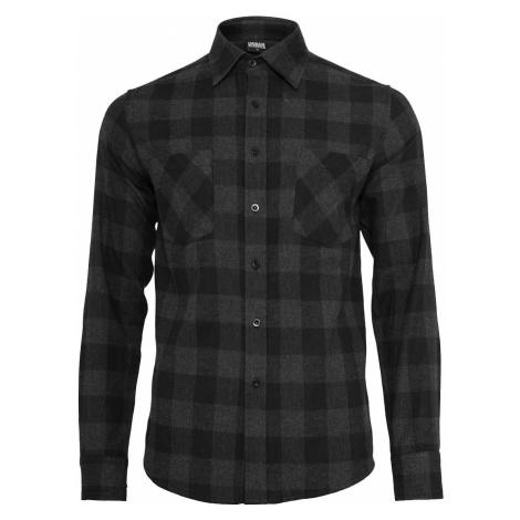 Pánská flanelová košile Miner černá Urban Classics