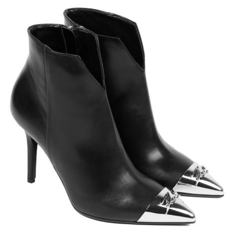 Kotníková Obuv Karl Lagerfeld Manoir Hi Signia Tip Ankle Boot - Černá