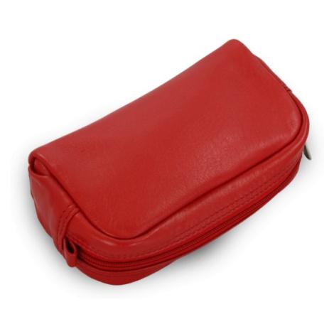 Červená dámská kožená etue Nevaeh Arwel
