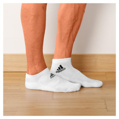 Blancheporte Bílé kotníčkové ponožky, sada 3 párů bílá