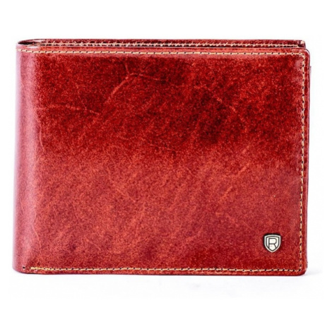Natural brown leather wallet with compartments Fashionhunters