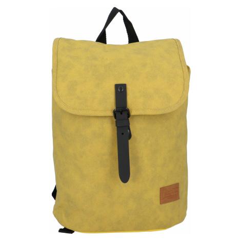 Elegantní látkový tmavě žlutý batoh - New Rebels Morpheus Next
