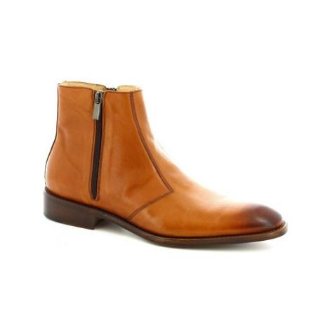 Leonardo Shoes PINA 467 VITELLO CUOIO Hnědá
