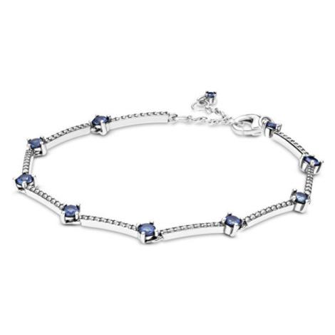 Pandora Článkový náramek ze stříbra s krystaly a kubickými zirkony 599217C01cm
