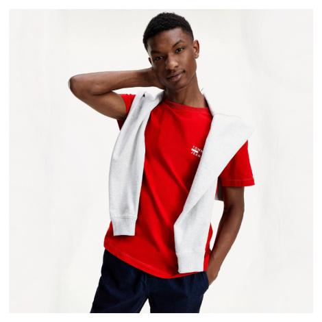 Tommy Jeans pánské červené tričko Chest