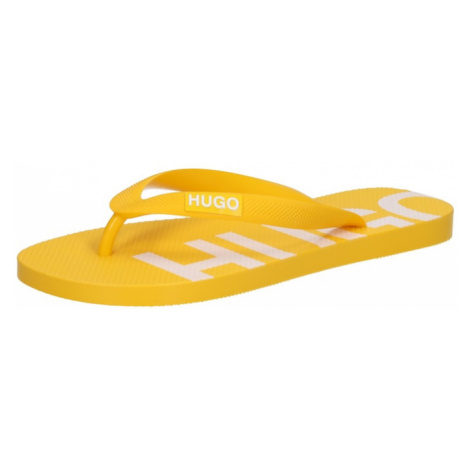 HUGO Žabky 'Onfire' zlatě žlutá / bílá